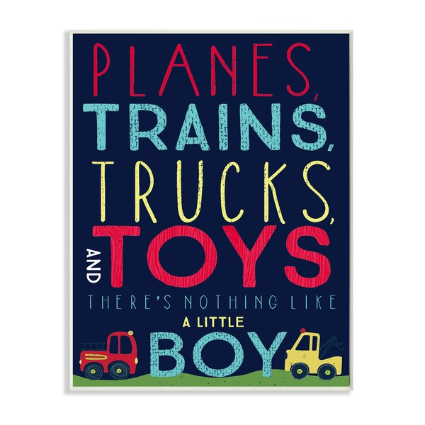 Planes, Trains, Trucks and Toys Wall Plaque by Stupell Industries