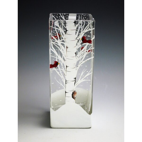Winter Majesty Table Vase by Christina's HAND PAINTED