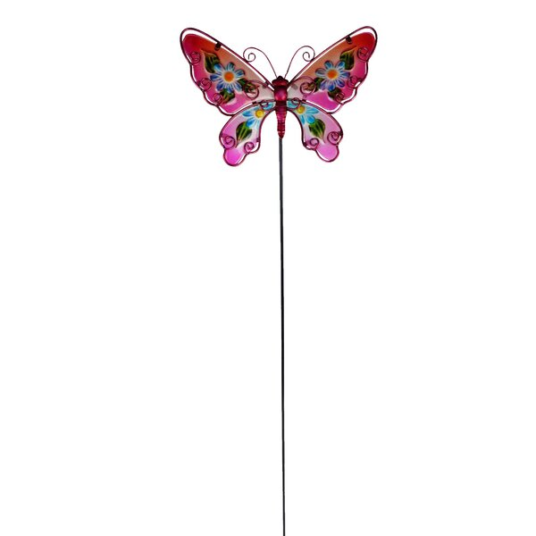 Recker Painted Butterfly Garden Stake by Winston Porter