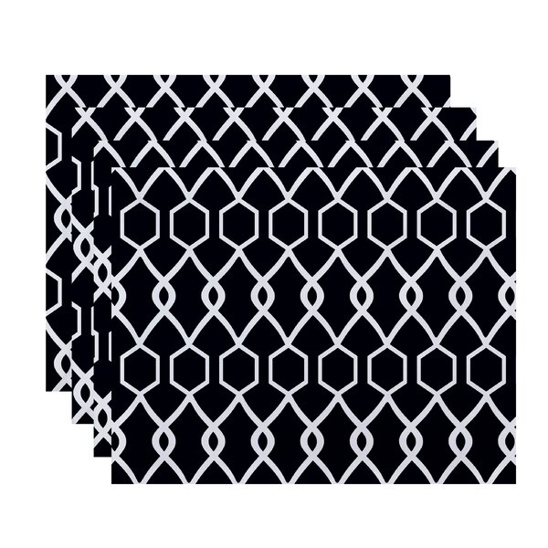 Keshawn Geometric Placemat (Set of 4) by Latitude Run