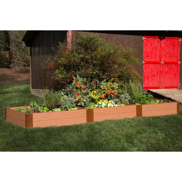 Classic Sienna 12 ft x 4 ft Manufactured Wood Raised Garden by Frame It All