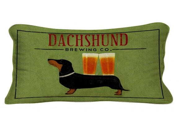 Dachshund Brewing Co Lumbar Pillow by Cape Craftsmen