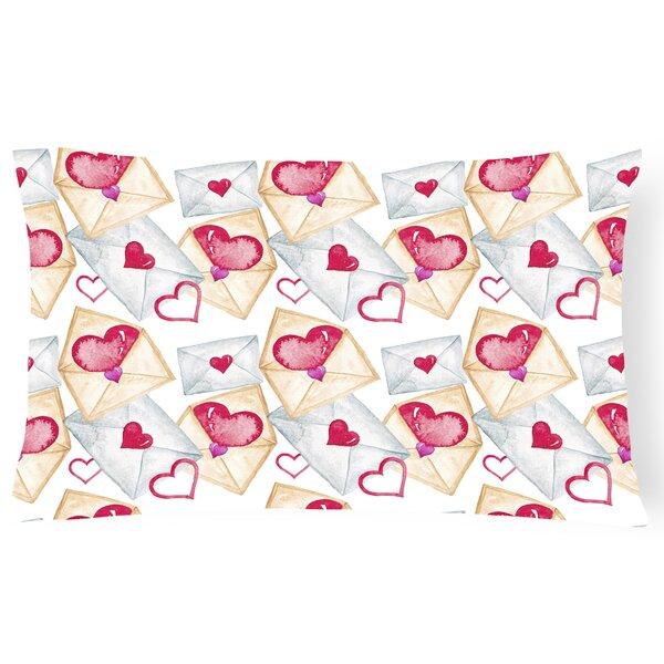 Maris Watercolor Love Letters Indoor/Outdoor Throw Pillow by Zoomie Kids