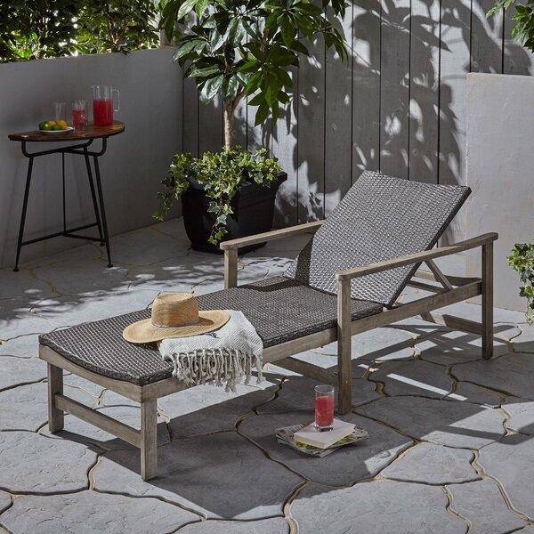 Katrina Outdoor Rustic Single Chaise by Mistana Mistana
