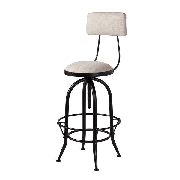 Macdougal Adjustable Height Swivel Bar Stool by Gracie Oaks