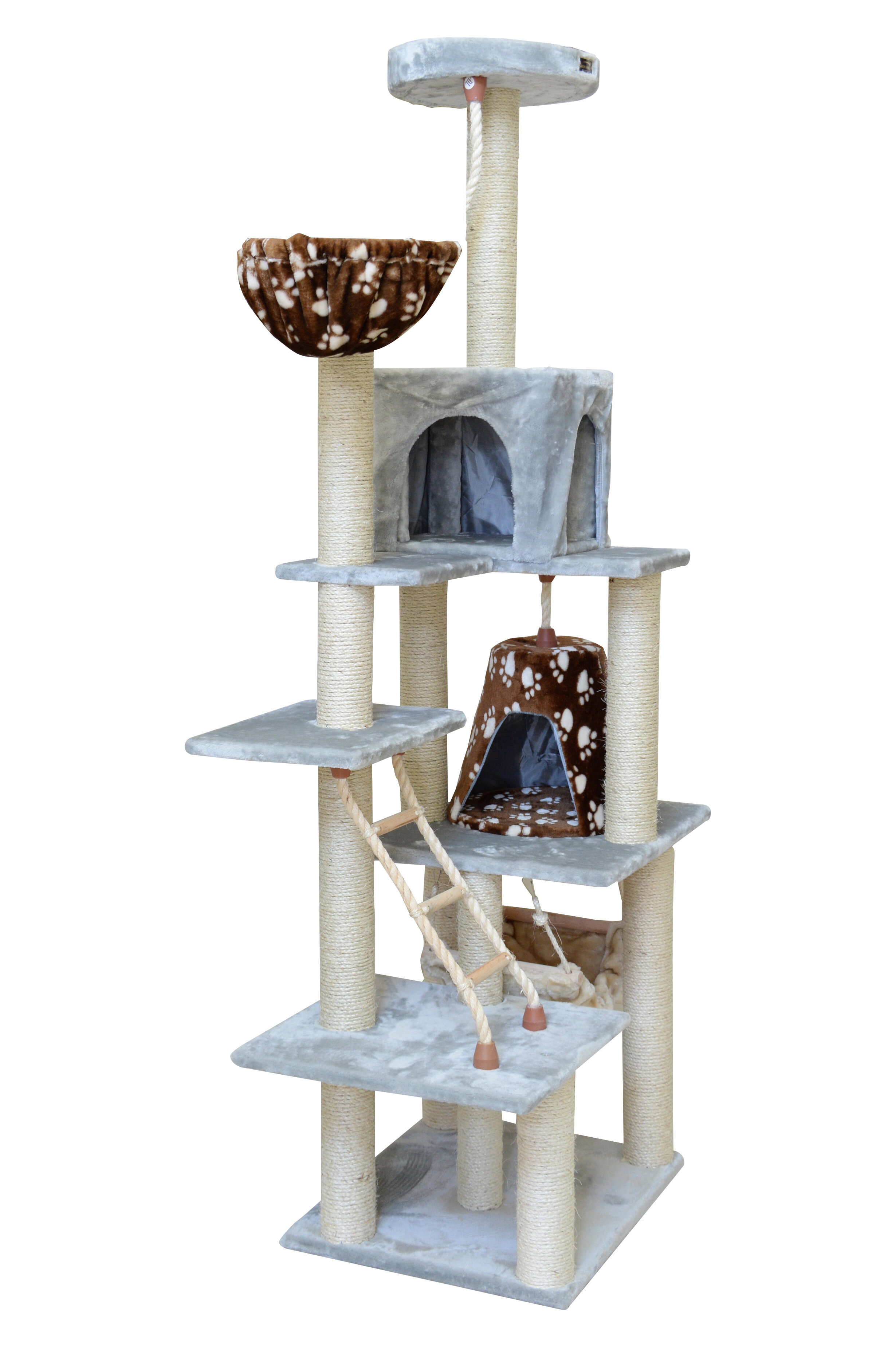 new cat tower best scratch house condo kitty pet tree furniture img beige post product