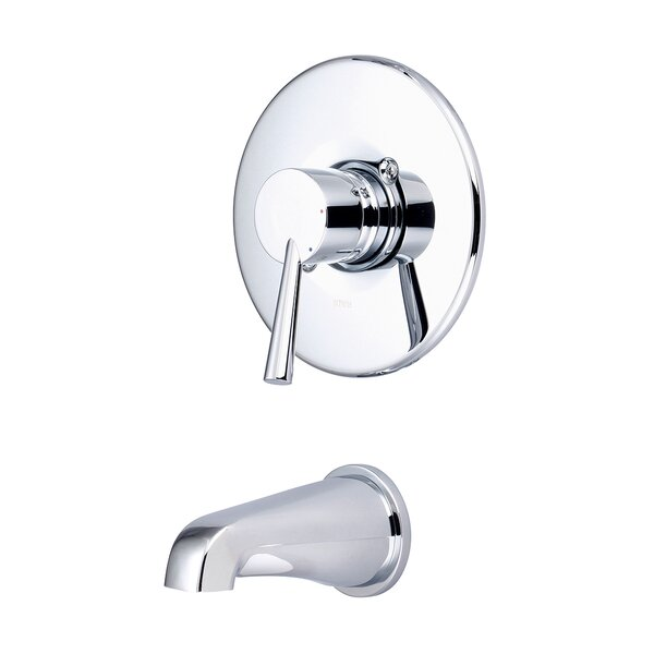 Single Handle Wall Mounted Tub Trim with Lever Handles by Olympia Faucets