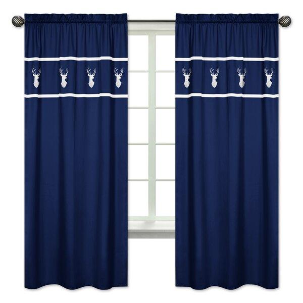 Woodsy Wildlife Semi Sheer Rod Pocket Curtain Panels Set Of 2 By Sweet Jojo Designs.