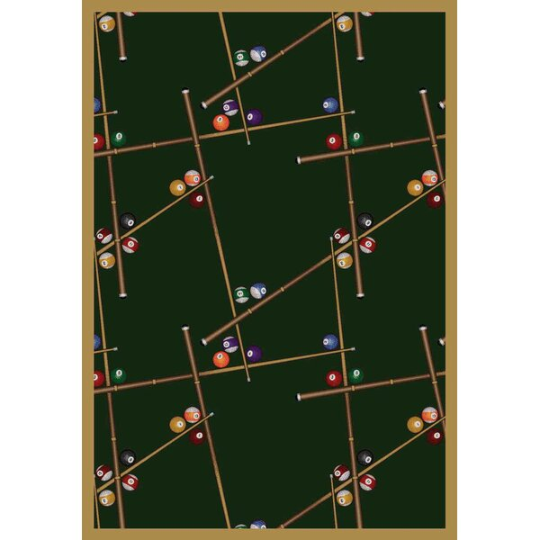 Snookered Emerald Green Area Rug by The Conestoga Trading Co.