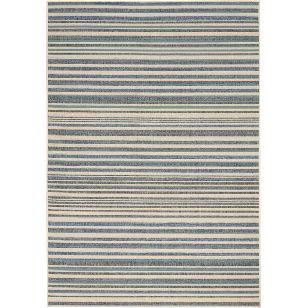 Lido Blue/Cream Indoor/Outdoor Area Rug by Barclay Butera