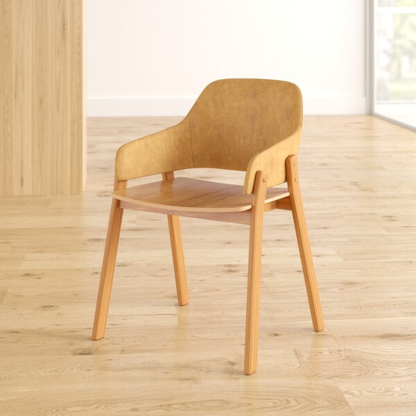 Clutch Leather Arm Chair In Camel Leather/White Oak By Blu Dot