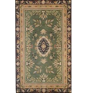 Smallwood Hand-Tufted Wool Green/Black/Beige Area Rug ByAstoria Grand