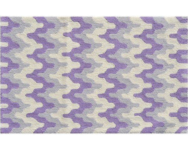Hand-Hooked Purple Area Rug by The Conestoga Trading Co.
