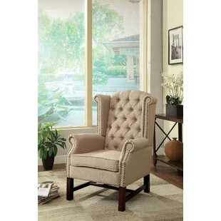 Epling Wooden Wingback Chair by Darby Home Co