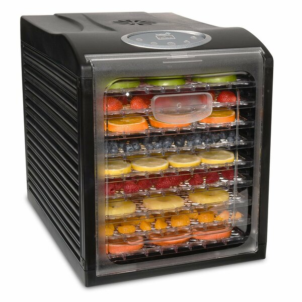 9 Tray Electric Beef Jerky Countertop Food Dehydrator for a Healthy Diet by Ivation
