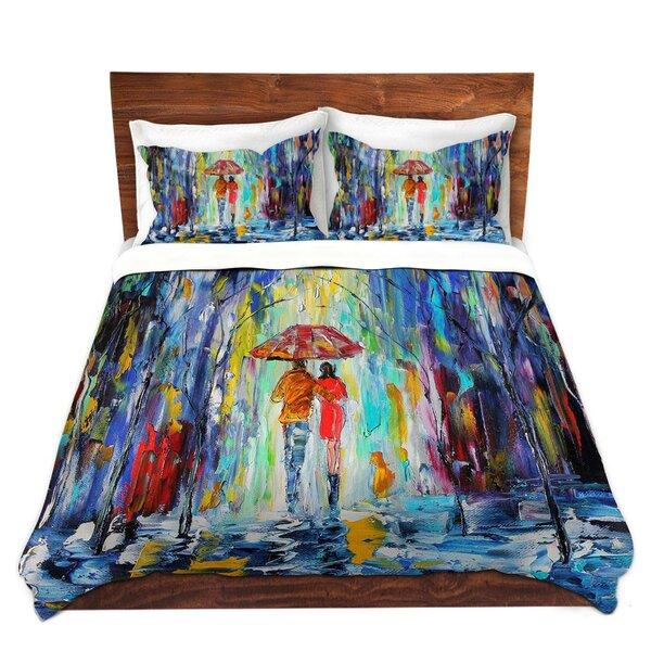 Rainy Night Abstract Duvet Cover Set
