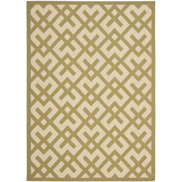 Sherree Power Loom Beige/Green Rug