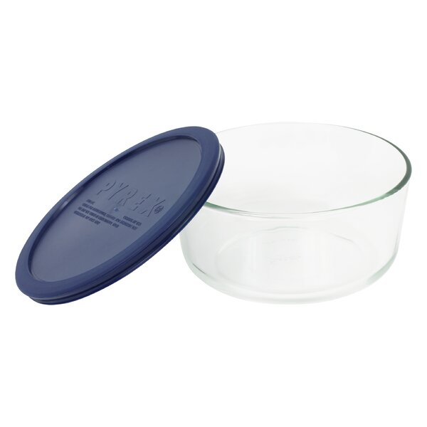 Storage 7-Cup Round Dish with Cover by Pyrex