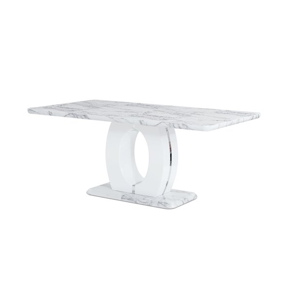 Kimbell Pedestal Base Dining Table by Brayden Studio