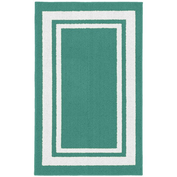 Ginger Green/White Indoor/Outdoor Area Rug by Winston Porter