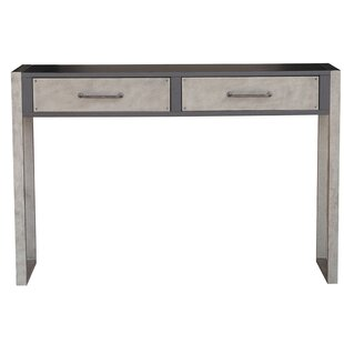 Bledsoe Industrial Distressed 2 Drawers Storage Console Table by Williston Forge