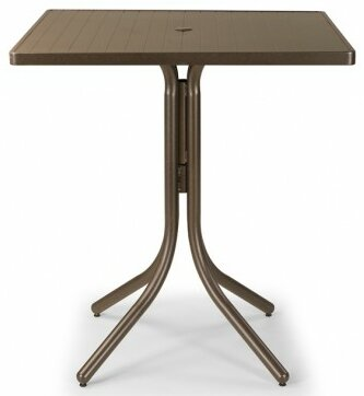 Aluminum Slat 36 Square Bar Table by Telescope Casual