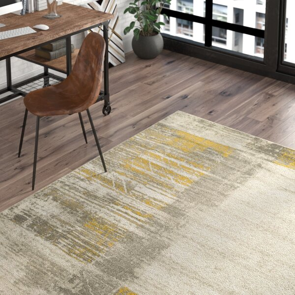 Chartwell Light Gray/Gold Area Rug by Trent Austin Design
