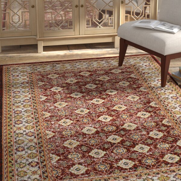 Dover Red/Orange/Green Area Rug by Bungalow Rose