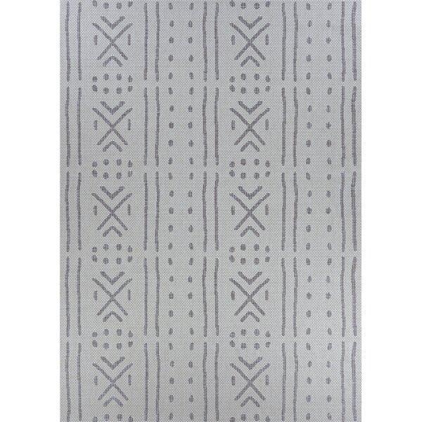Temple Cloud Gray Indoor/Outdoor Area Rug by Union Rustic