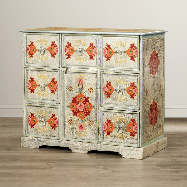 Gillis Hand Painted 8 Drawer Accent Chest by Bungalow Rose