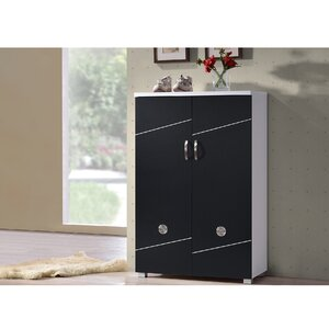 Baxton Studio Heidi 15-Pair Shoe Storage Cabinet