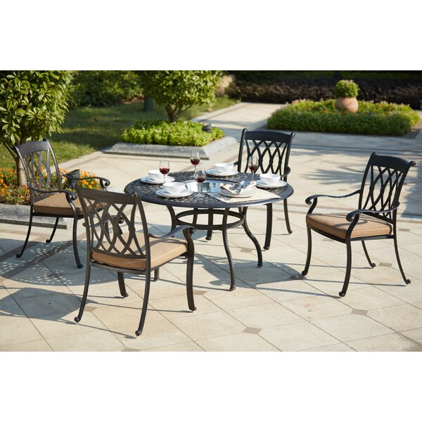 Melchior 5 Piece Dining Set with Cushions by Astoria Grand