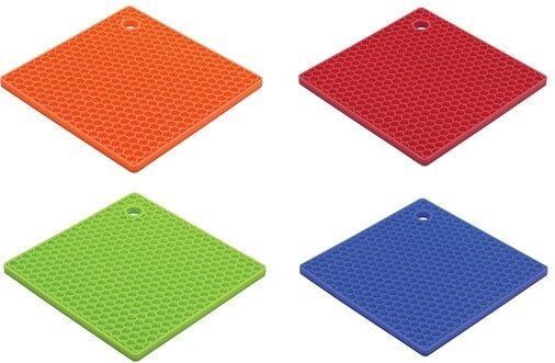 Multi-Purpose Honeycomb Texture Silicone Trivets (Set of 4) by HIC Harold Import Co.