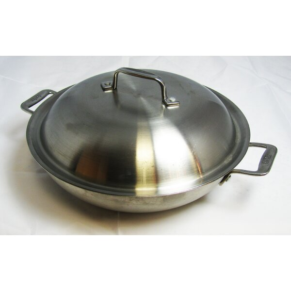 Cucina Round Braiser with Lid by Bon Chef