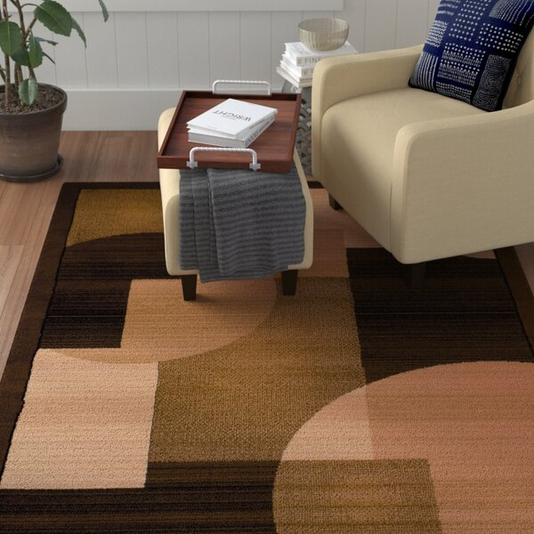 Jerome Brown/Beige Area Rug by Winston Porter