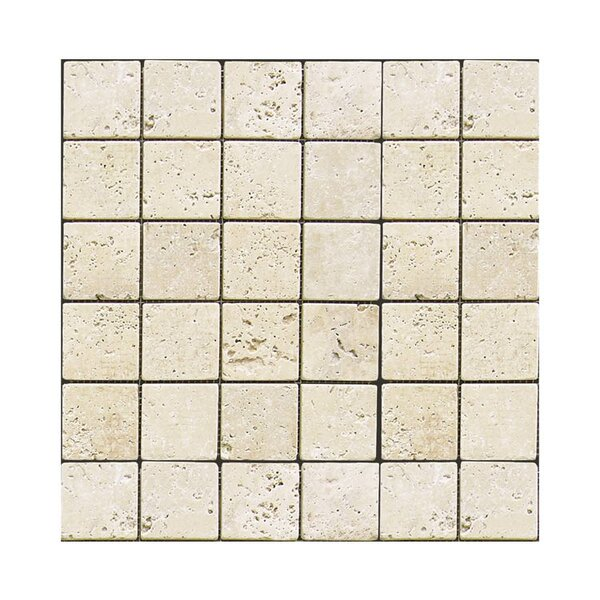 Tumbled 2 x 2 Natural Stone Mosaic Tile in Nysa by QDI Surfaces