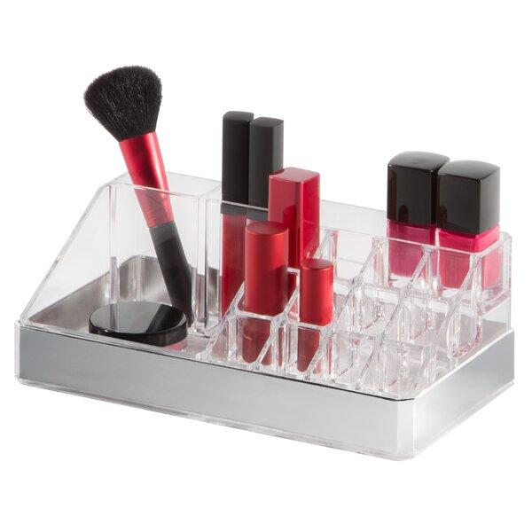 Clear Cosmetic Storage Organizer Display Tray 15 Compartments by HomeCrate