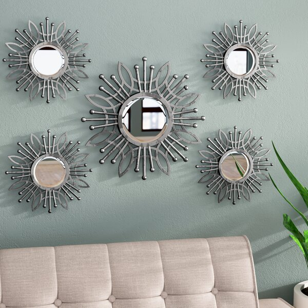 5 Piece Katy Burst Wall Mirror Set by Zipcode Design