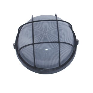 Great Price Wittrock 1-Light Outdoor Bulkhead Light By Breakwater Bay
