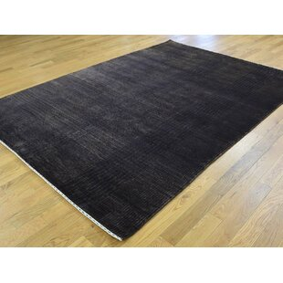 Best Price One-of-a-Kind Beverly Closeout Hand-Knotted 5'9 x 8'3 Wool/Silk Black Area Rug By Isabelline