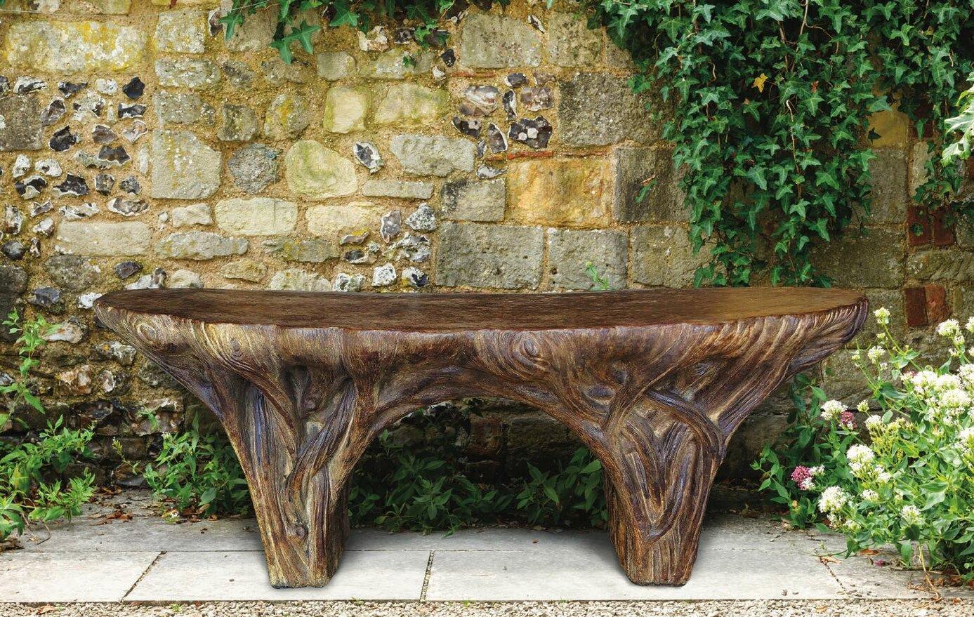 Picture of: Henri Studio Driftwood Stone Garden Bench Reviews Wayfair