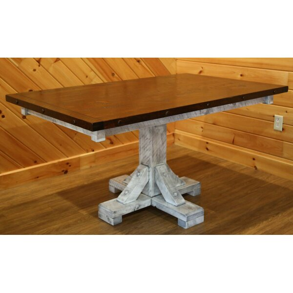 Bechtold Timber Peg Solid Wood Dining Table by Millwood Pines Millwood Pines