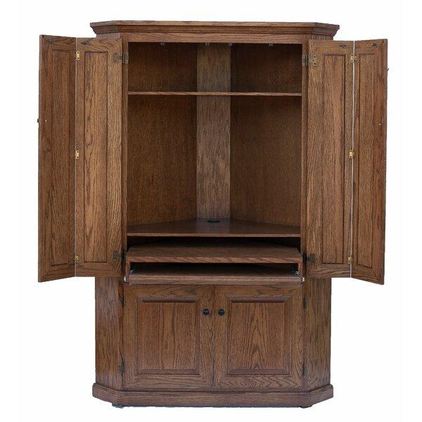 47 Lapierre 4 Panel Door Corner Armoire Desk