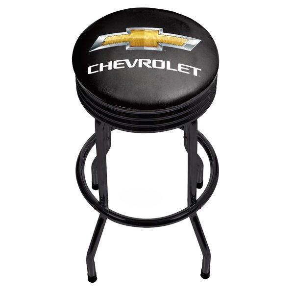 Chevrolet Ribbed 29 Swivel Bar Stool by Trademark Global