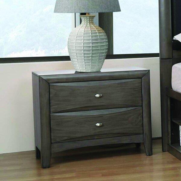 Weitzel 2 Drawer Nightstand by Canora Grey