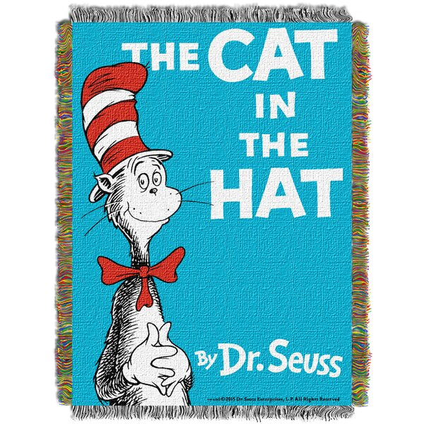 Dr. Seuss Cat Book Cover Throw by Northwest Co.