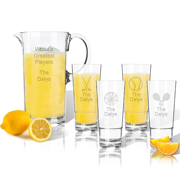 Tritan Sports 5 Piece Beverage Serving Set by Carved Solutions