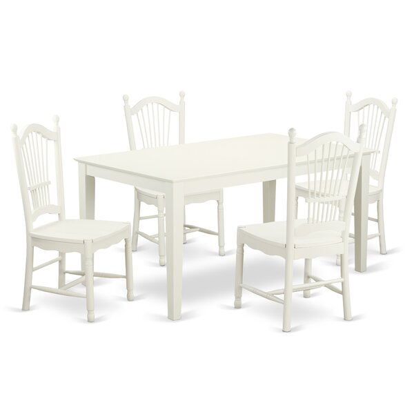 Smyrna Solid Wood Dining Set By Charlton Home