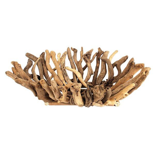 Haubert Driftwood Decorative Bowl by Highland Dunes
