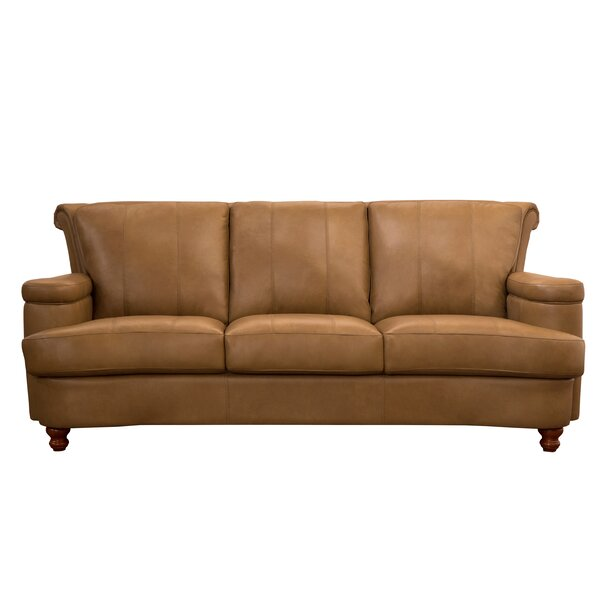 Top Recommend Roseberry Leather Sofa by Charlton Home by Charlton Home